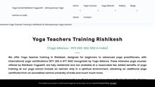 Details : Yoga Teacher Training in Rishikesh India - RYS 200, 300 & 500