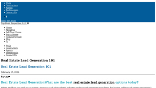 Details : What are the best real estate lead generation options today?